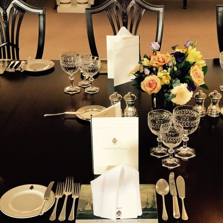 Table on the Royal Yacht Britannia