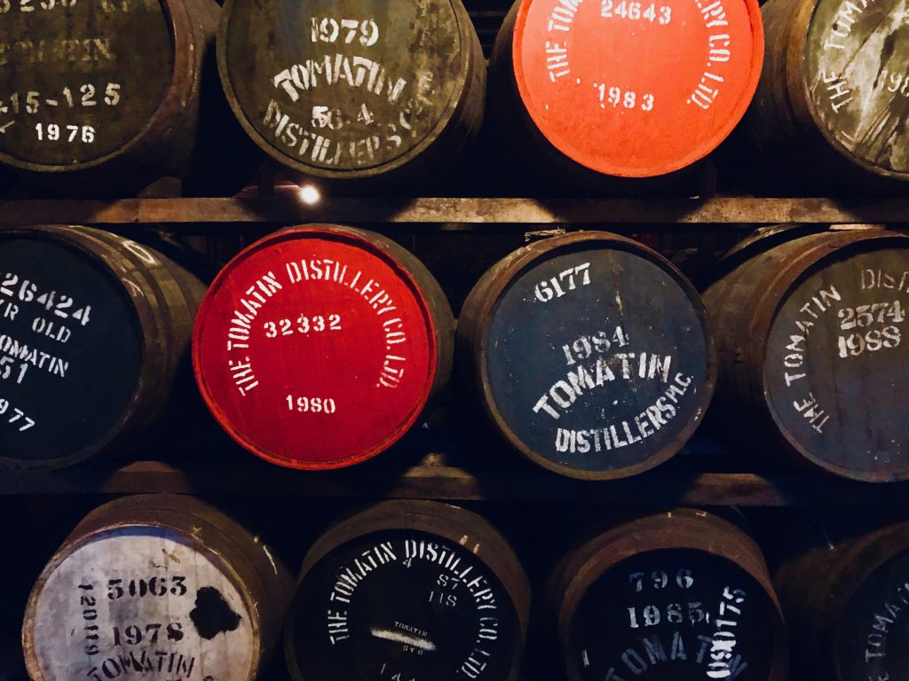 Tomatin Whisky Barrels