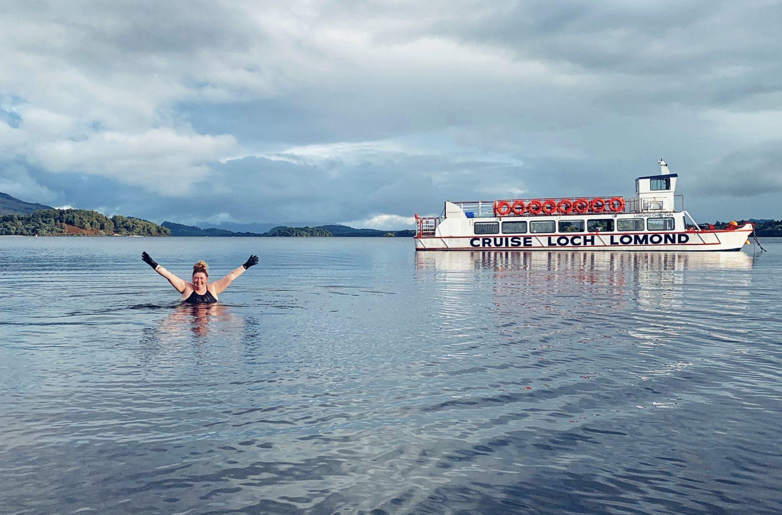 Wild swimming Loch Lomond