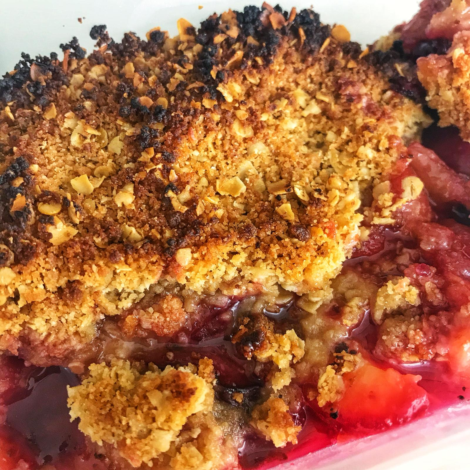 Easy Plum Crumble Recipe